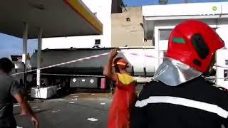 Casablanca : Accident d'un camion-citerne dans une station-service