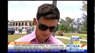 Jorge Martínez: el cubano que emigró a EE.UU. en una tabla de windsurf