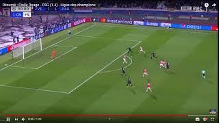 33 Résumé   Etoile Rouge   PSG 1 4   Ligue des champions   YouTube   Google Chrome 17 12 2018 14 33