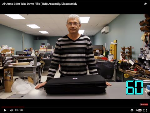 Video: Air Arms S410 Take Down Rifle (TDR) Assembly/Disassembly   Pyramyd Air