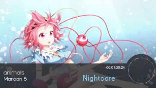 Marron 5  animals Nightcore