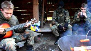 STALKER 3 Airsoft Finland: Campfire guitar