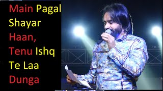 Babbu Maan New Shayari First Time Live On Stage || Pagal Shayar || Tu Khwaab na dekha kar