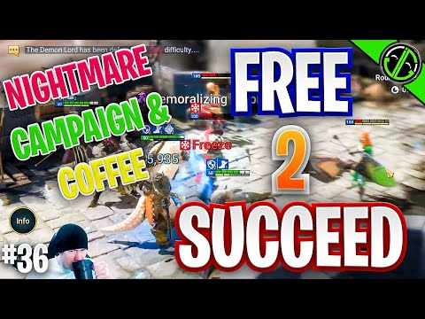 Raid | Beginning Nightmare Campaign & Sippin Coffee | Free 2 Succeed - EPISODE 36
