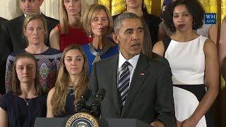 President Obama Honors the 2016 UConn Women's Basketball Team