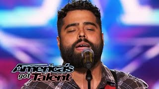 """Sal Gonzalez: Wounded Warrior Sings """"Simple Man"""" Cover - America's Got Talent 2014"""