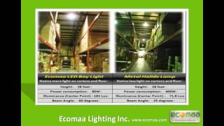 Ecomaa LED Bay Light with E39/E40 base (Warehouse Light/ Industrial Light)