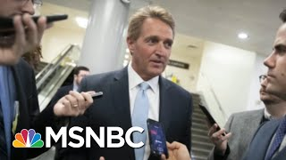 On The Way Out, Senate Jeff Flake Calls McConnell's Bluff | Morning Joe | MSNBC width=