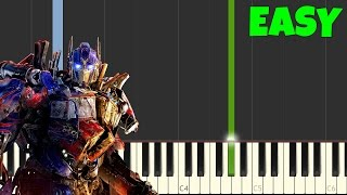 Transformers [Easy Piano Tutorial] (Synthesia/Sheet Music)