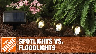 A video reviews how to choose security flood lights and spotlights for your home.