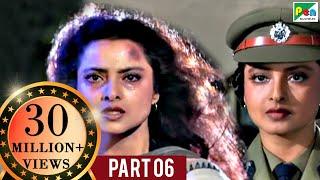 Phool Bane Angaray (1991 )   Rekha, Rajinikanth   Hindi Movie Part 6 of 9 width=
