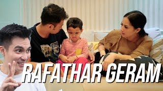 REACTION RAFATHAR LIAT VIDEO BAIM TIDURIN RAFATHAR