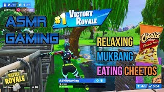 ASMR Gaming   Fortnite Mukbang Eating Crunchy Flamin Hot Cheetos 먹방 🎮🎧 Relaxing Whispering😴💤