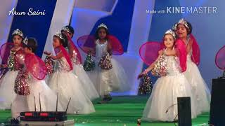 Papa ki Pari dance performance by little girls,M.S. Sen. Sec. Public school