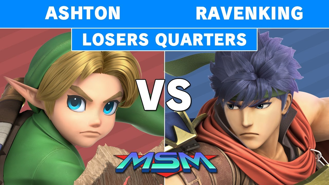 2GGaming - MSM Online 29 - Ashton (Young Link) Vs. UGS | RavenKing (Ike) Losers Quarters - Smash Ultimate