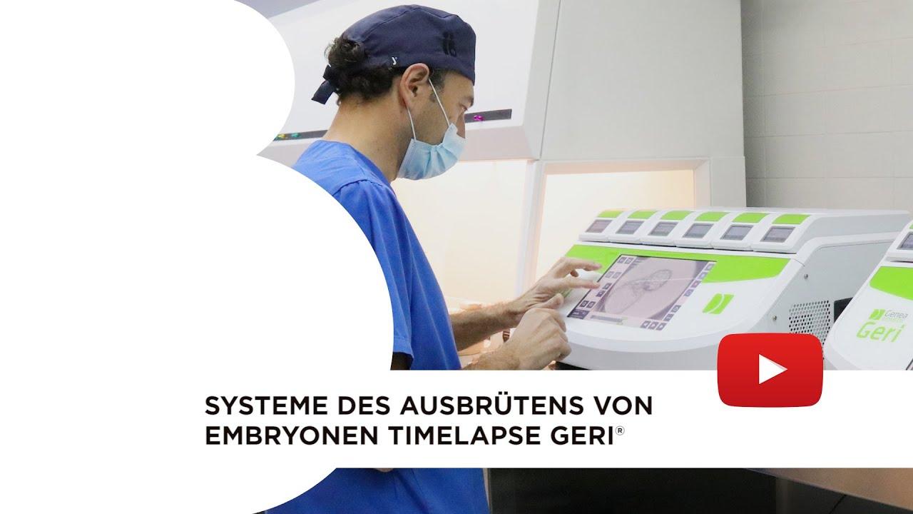 Systeme des Ausbrütens von Embryonen Timelapse GERI®