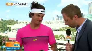 Rafael Nadal Crashes The Today Show