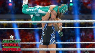 Rey Mysterio plants Chad Gable with a tilt-a-whirl DDT: Greatest Royal Rumble (WWE Network)