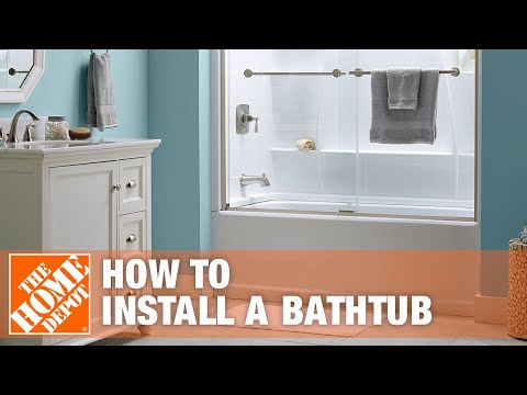 Click for a video about how to install a bathtub