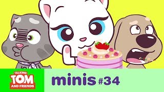 Talking Tom and Friends Minis - Angela's Pink Cake (Episode 34)