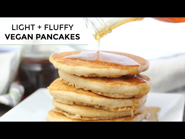 Vegan Pancakes | Light + Fluffy Vegan Pancake Recipe