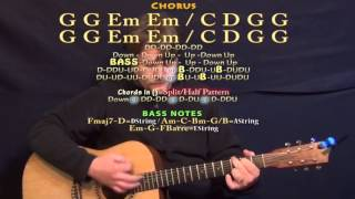 Something I Need (One Republic) Guitar Lesson Chord Chart - G Em C D