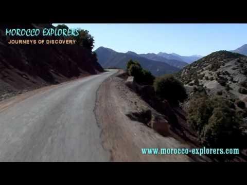 Tizi n Test Pass, a breath taking drive through the High Atlas Mountains Morocco