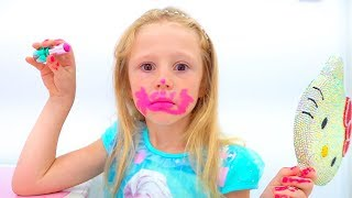 Stacy and stories about kid's dress up and makeup toys