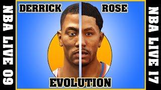 DERRICK ROSE evolution [NBA LIVE 09 - NBA LIVE 16]