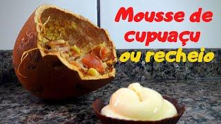 Receita de Mousse de cupuaçu para sobremesa ou recheio refrigerado