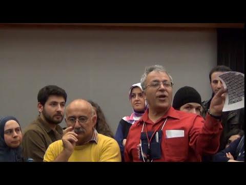 Edip Yüksel (T) ODTÜ'de Sevan ile Ayaküstü Tartışma