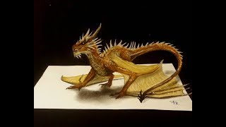 Drawing a 3d dragon - How to draw a dragon