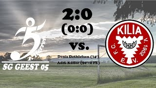 Highlights SG Geest 05 vs. FC Kilia Kiel - 2:0 (0:0)  - 06.08.2017