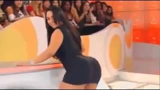 Latina twerking her beautiful ass on TV