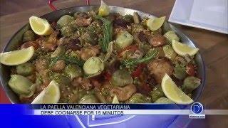 Chef Eddie Garza nos enseña a preparar una paella valenciana vegetariana