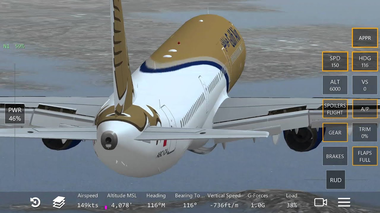 How to use appr to landing a321 in infinite flight