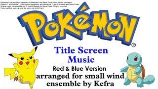 Pokemon Music for Winds - Title Screen (Red/Blue Version)