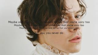 Harry Styles - From the Dining Table (Audio) LYRICS ON SCREEN