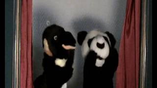 pinguim, panda e telefone