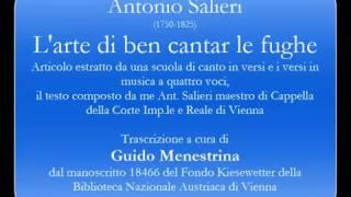 Antonio Salieri (1750-1825) - L'arte di ben cantare le Fughe