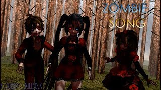 【MMD X VOCALOID】zombie song - Bloody Goth Miku, Bloody Rose Len and Rin