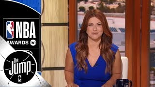 Rachel Nichols recaps the NBA Awards' best and most awkard moments | The Jump | ESPN width=