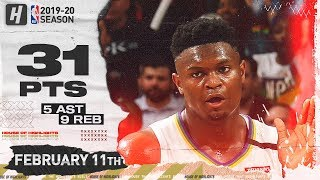 Zion Williamson 31 Points Full Highlights | Blazers vs Pelicans | February 11, 2020