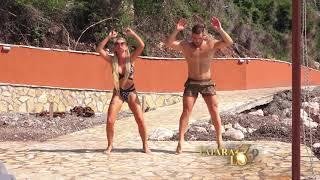 Teodora Dzehverovic vežba na plaži sa fitnes trenerom