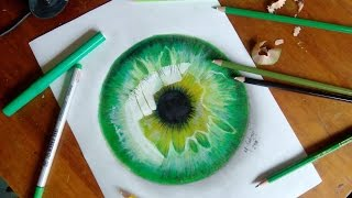 How to draw a hyper-realistic eye || Tutorial timelapse