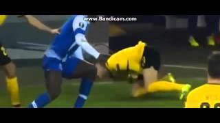 Varela Horror Tackle vs  Reus Dortmund vs Porto 2 0