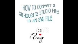 Silhouette Studio: Convert to SVG