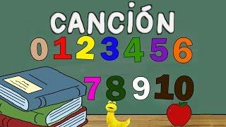 Canción de los números - Los Números del 0 al 10 - Educación Infantil - Canción Memo El Gusano