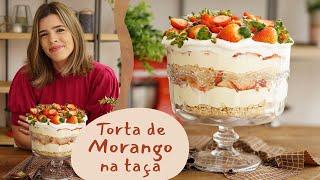 TORTA DE MORANGO NA TAÇA - receita fácil! | Receitas de Natal | TPM por Ju Ferraz