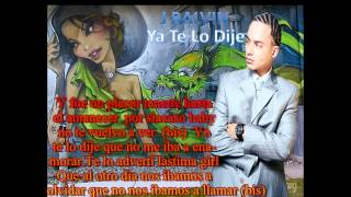 J Balvin-Yo te lo Dije Con Letras New Reggaeton 2012 HD